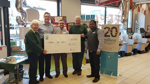 Cheque presentaion at the Co-op