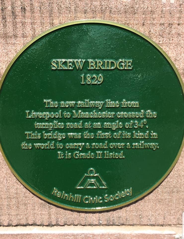Plaque on Skew Bridge